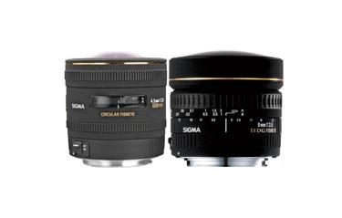 Sigma Wide-Angle and Fisheye Lenses