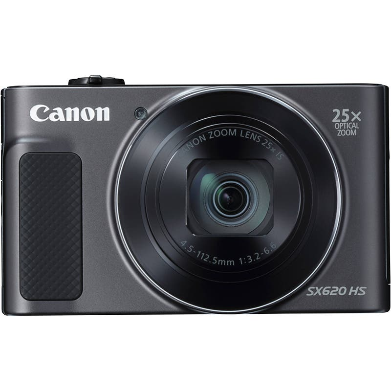 Canon Powershot SX620 HS Compact Digital Camera Black Front View
