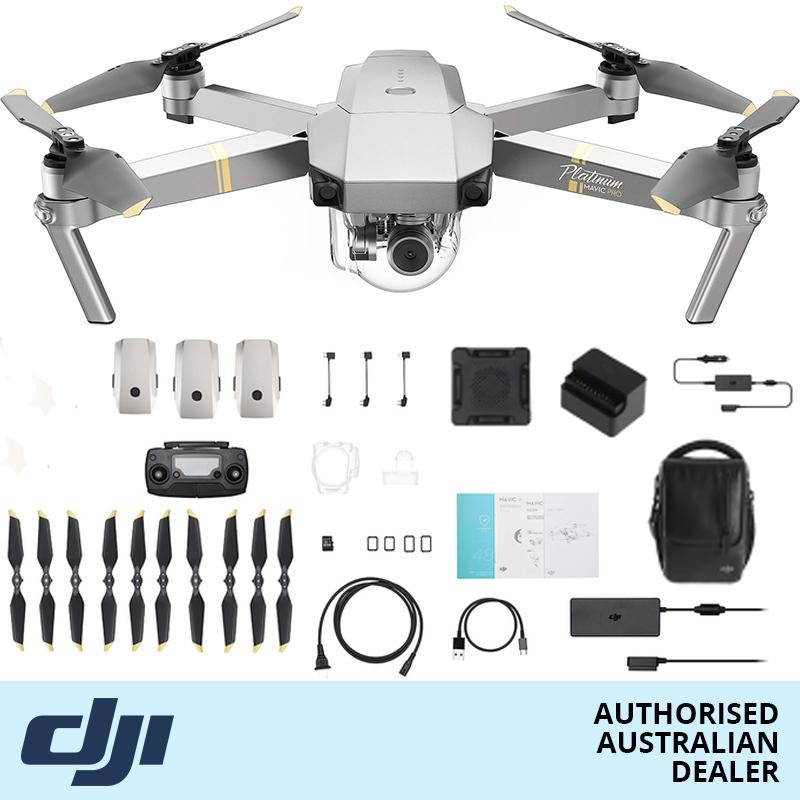 DJI Mavic Pro Platinum Camera Drone Fly More Combo | Online Camera Store Australia | Camera-Warehouse.com.au