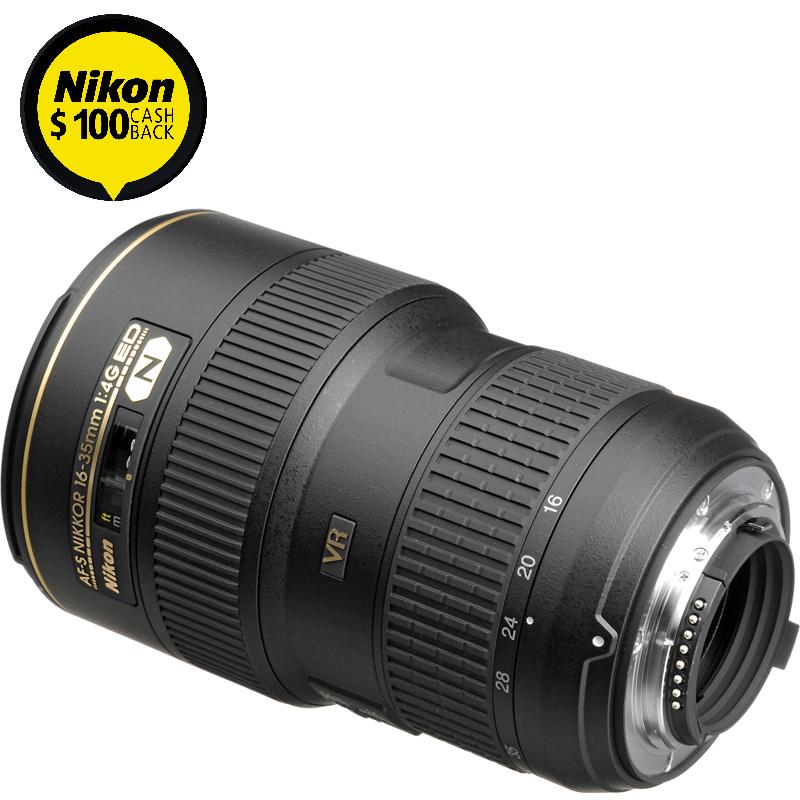 Nikon AF-S Nikkor 16-35mm f/4G ED VR Camera Lens Rear View | Camera-Warehouse.com.au